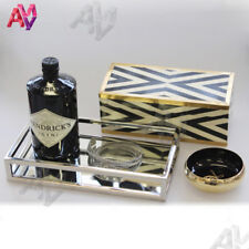 STUNNING Rectangular Silver Tray/Small/Mirror/Coffee Table Tray/Bedroom/Hamptons