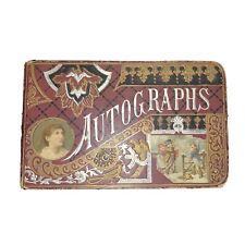 Antique Victorian Autograph Book 1880s Poetry