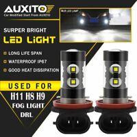 2X AUXITO H8 H11 Fog Driving Light Bulb LED Super Bright 6000K 2400LM 50W LED EA