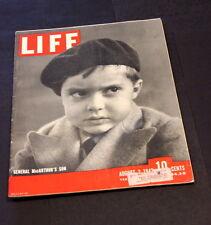 LIFE MAGAZINE AUGUST 3 RD 1942 GENERAL MAC ARTHUR'S SON