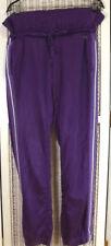 DEHA Women's Purple Satin Sweatpants W34 L32 Dancewear Activewear Trousers Pants