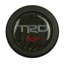 TRD Carbon Fiber Racing Car Steering Wheel Horn Button + Cover For Toyota Cars