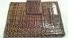 Leather Wallet - Helen Welsh - Crocodile Embossed Genuine Leather - Bifold