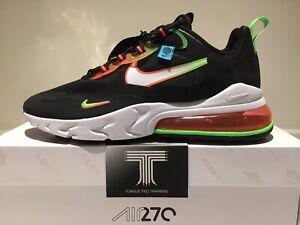 Nike Air Max 270 React WW Worldwide ~ CK6457 001 ~ Uk Size 11 ~ Euro 46