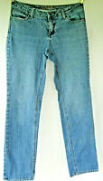 St Johns Bay women Straight Jeans Size 10 blue medium wash faded stretch cotton
