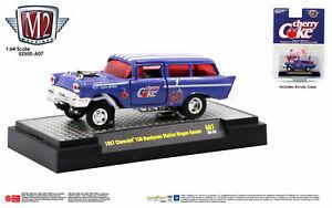 M2 Machines 1957 Chevrolet 150 Handyman Station Wagon GASSER CHERRY Coke  (CG19)