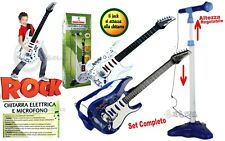 Guitare Électrique Jouet pour Enfants avec Barre Karaoke et et Micro