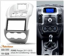 Car Radio fascia Trim Dash for FORD Ranger 2011+ (Auto Air-Conditioning) Silver