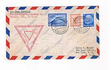 LZ 127 Südamerika-Chicagofahrt 1933, 50.Ozeanüberquerung, 2 RM +50 Pf + 25 Pf