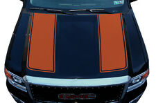 Custom Vinyl Graphics Decal Wrap Kit fits 14-17 GMC Sierra RACING STRIPES Orange