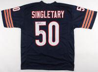 Mike Singletary Chicago Bears Signed Autograph Blue Football Jersey JSA COA