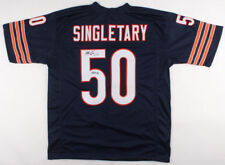 Mike Singletary Chicago Bears Signed Autograph Blue Football Jersey JSA COA