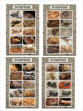 2015 SCORPIONS INSECTS BUGS 12 SOUVENIR SHEETS MNH UNPERFORATED