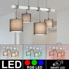 Lámpara De Techo LED Smart Casa RGB Textil Madera Colgante Regulable Mando