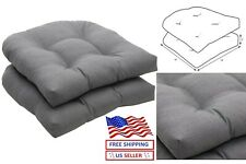 """2 Pack Gray Pillow Outdoor/Indoor Rave Graphite Tufted Seat Cushions 19"""" x 19"""""""