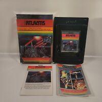 Atari 2600 Game  Imagic Atlantis with Box and Manual Vintage Video Game