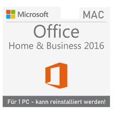 Microsoft Office 2016 Home and Business für MAC | 1 PC | Reinstallation | DE