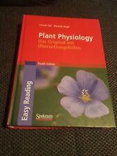 Plant Physiology, Fourth Edition von Lincoln Taiz & Zeiger Das Original mit Üb.