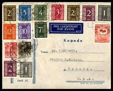 Indonesia Palembang 1950 Multifranked Airmail Cover to Canada Winnipeg