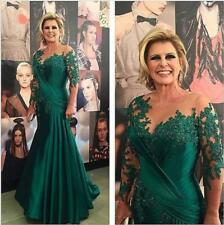 Green Mermaid Mother of the Bride Dress Plus Size Mother Prom Evening Dress