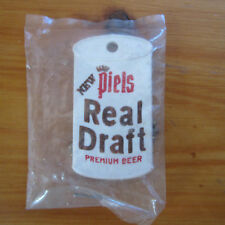 vintage NEW PIELS Real Draft Premium BEER plastic KEYCHAIN Brooklyn NY - NOS