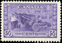 1942 Canada Mint H F+ Scott #261 50c KGVI War Issue Stamp