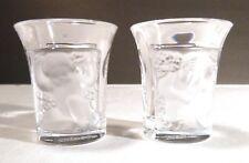 """*VINTAGE* Lalique Crystal ENFANTS (1947-) Set of 2 Shot Glasses 1 3/4"""""""