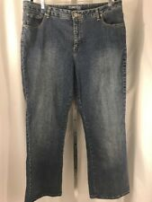 Womens St. Johns Bay Stretch Boot Jeans Plus Size 18 S Med Wash Mid-Rise