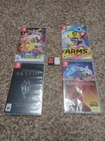 Nintendo Switch Games Mario Odyssey Splatoon 2 Skyrim Arms Pokken Disney Classic