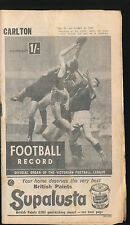 1965 Football Record Carlton v Geelong Home & Away April 24 Blues Cats