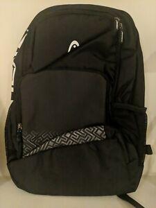 "Head Large Black Nylon Backpack 19"""