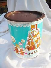 Tupperware One Touch Canister GINGERBREAD HOUSE~8 Cups