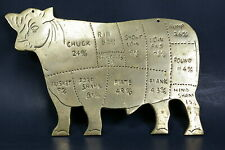 Beef Pork Chicken Meat Cuts Chart Guide Rustic Vintage Kitchen Wall Decor Three of 9x12 Metal Plate Chic Sign Home Store Decor Plaques