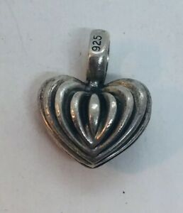 Lagos Caviar Sterling Silver Fluted Heart Small Pendant