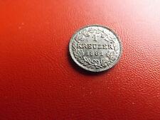 * Bayern 1 Kreuzer 1861 Silber *Maximilian II. *(76) (Alb.2)