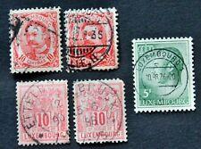 5 x Luxemburg Großherzöge Wilhelm + Jean + Allegorie Duché de Luxembourg