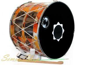 Orientalische Profi 53 cm. DAVUL Dhol Drum Schlagzeug Davul 100% Handmade (32)