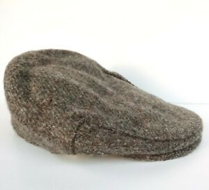 Glenappin of Scotland Wool Tweed flat cap, made in Great Britain, excellent cond