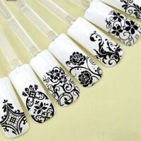 108pcs 3D Flower Lace Nail Art Water Transfer Decals Stickers Tips Decoration