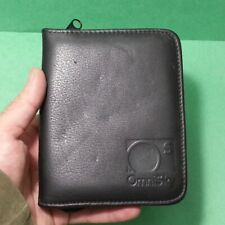 "Omnisky Black Leather Pda / Cell Phone Folio Case Zipped Around 5.25"" x 4.5"""