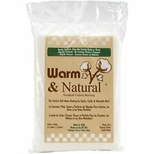 "Warm Company Baby Batting 2322 Warm & Natural Cotton Batting-Crib Size 45""X60"","
