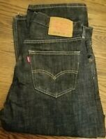 Levis Mens 501 XX Blue Jeans Button Fly Size 34x32
