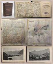 Neudegg: Das Salzkammergut, Tirol und Oberbayern 1896 Grieben Reisefüherer - xz
