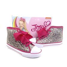 NWB JoJo Siwa Legacee Multi Glitter Pink Bow High Tops Size 4