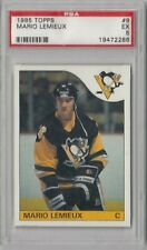 1985 Topps Pittsburgh Penguins Mario Lemieux Rookie RC #9 PSA 5 EX Centered