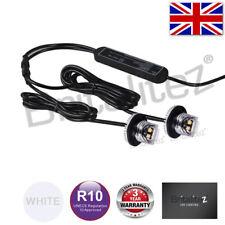 LED Warning Hideaway Lights,12/24V, Recovery, Strobe, Beacon, WHITE, E-MARKED UK