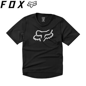 Fox Youth Ranger Short Sleeve Kids Jersey 2021 | Black