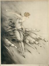 Zest (Throwing Ball with Dogs) : Louis Icart  : Circa 1928 : Art Print