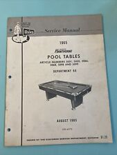 1965 August Montgomery Ward Hawthorne Pool Table Manual CRS-6072
