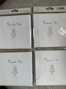 New in Pack (unopened) - Thank You Wedding Cards with Envelopes. 2 packs of 10.
